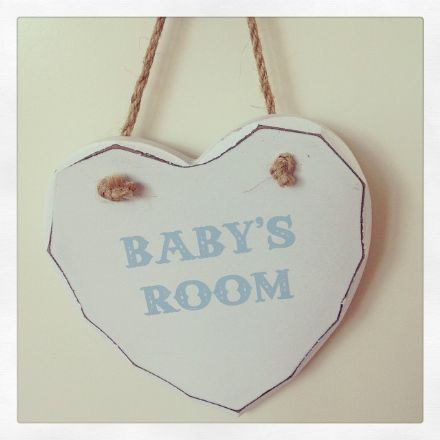 40% off Baby's Room Blue Hanging Wooden Heart
